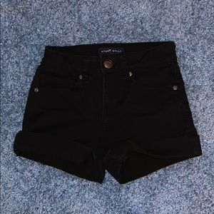 Aeropostale black cuffed shorts
